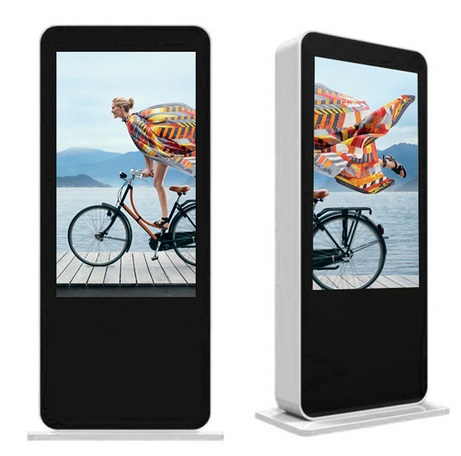 55'' 65'' 70'' 82 Inch Large Outdoor multi touch totem Wifi Advertising dual LCD Display digital kiosk signage pc
