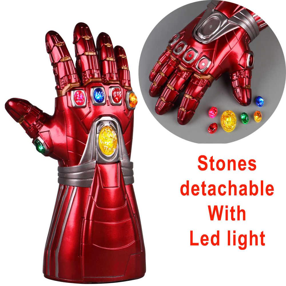 LED Infinity Gauntlet Avengers Endgame Iron man Tony Stark  Hulk Gloves Avengers Cosplay Latex Gloves Thanos