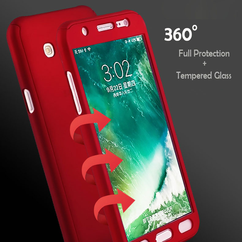 more photos cfbc0 03460 For Samsung Galaxy C7 Pro A6 2018 plus Phone Case 360 Degree Full Cover  Protective Phone Covers Case Capa Coque for Galaxy C7pro