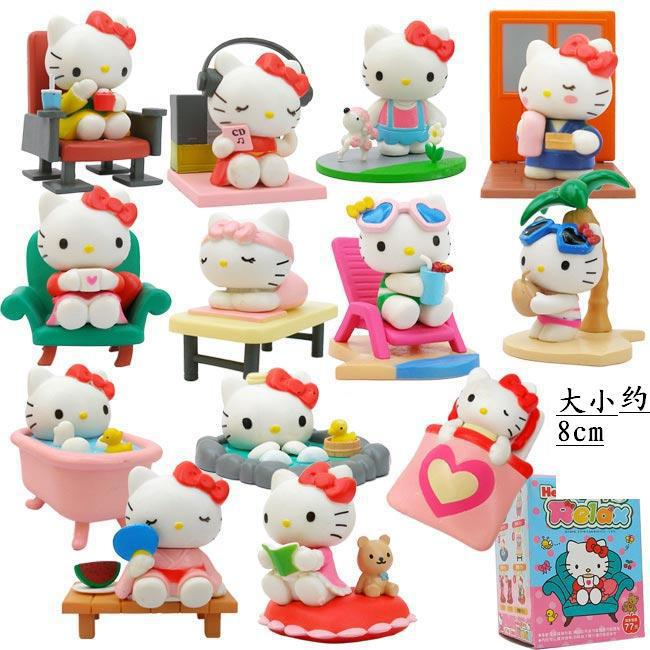 ФОТО Anime Hello Kitty Cute Holidays Ver. PVC Action Figure Kids Children's Toy 13pcs/set KT1736