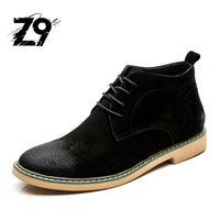 2016 Vintage Boots Men Flat Brand Design Quality Real Cow Leather Style Winter Autumn With Fur