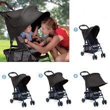 Универсальная детская коляска, аксессуары, солнцезащитный козырек, навесной чехол, детское сидение с креплением, устойчивая шляпа, подходит для детской коляски