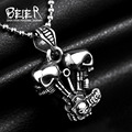 Beier new store 316L Stainless Steel pendant necklace high quality skull fashion chain men jewelry BP8-172