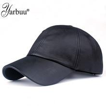 [YARBUU] new fashion PU black Baseball Cap women H