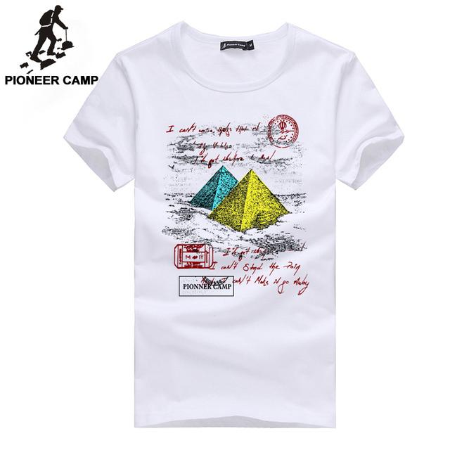 Pioneer camp envío gratis! nuevo 2017 moda masculina camiseta de manga corta de algodón de la personalidad ocasional masculina camiseta del desgaste de hombres de los hombres