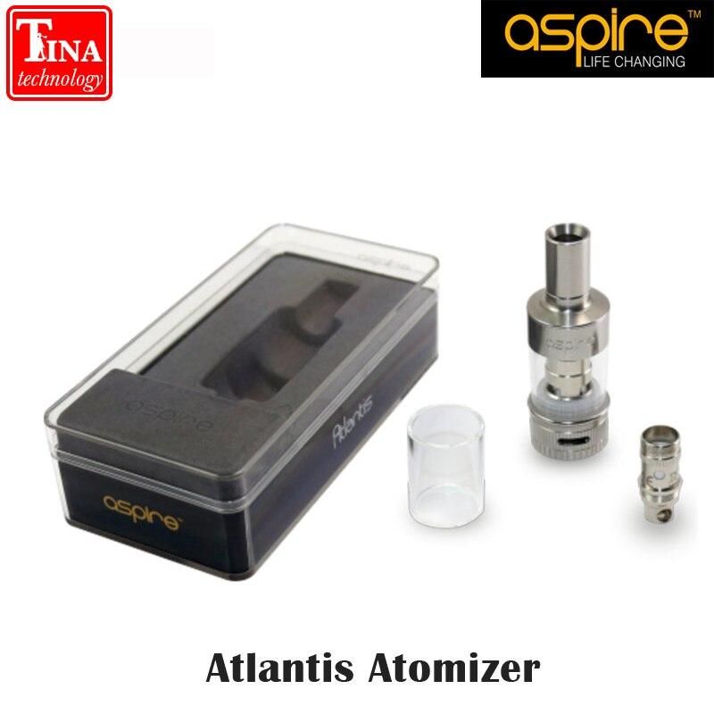 Original Aspire Atlantis <font><b>Atomizer</b></font> Rebuildable <font><b>Tank</b></font> <font><b>Atomizer</b></font> Airflow Adjustable Pyrex Glass 2.0ml <font><b>Tank</b></font> Atlantis <font><b>atomizer</b></font>