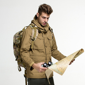 Outdoor Windbreaker Waterproof M65 UK US Army Clothes Men Coat Male Winter Autumn Flight Pilot Coat Hoodie Military Field Jacket