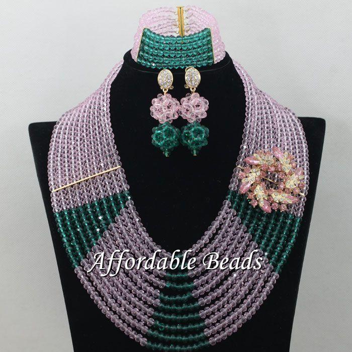 Army Green Pink Lace Jewelry Set Hot Sale Jewelry Set Handmade Item Wholesale Free Shipping ABE159 army green lace up design spaghetti bikini set