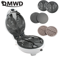 DMWD Great Waffle maker eggettes waffle Donut Cupcake maker 3 pans replaceable frying pan red white pink children gift