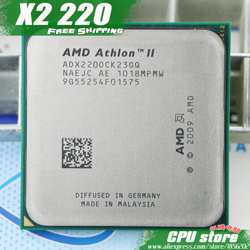 Процессор AMD Athlon II X2 220 Процессор процессор (2.8 ГГц/1 м/2000 ГГц) socket AM3 AM2 + бесплатная доставка 938 pin