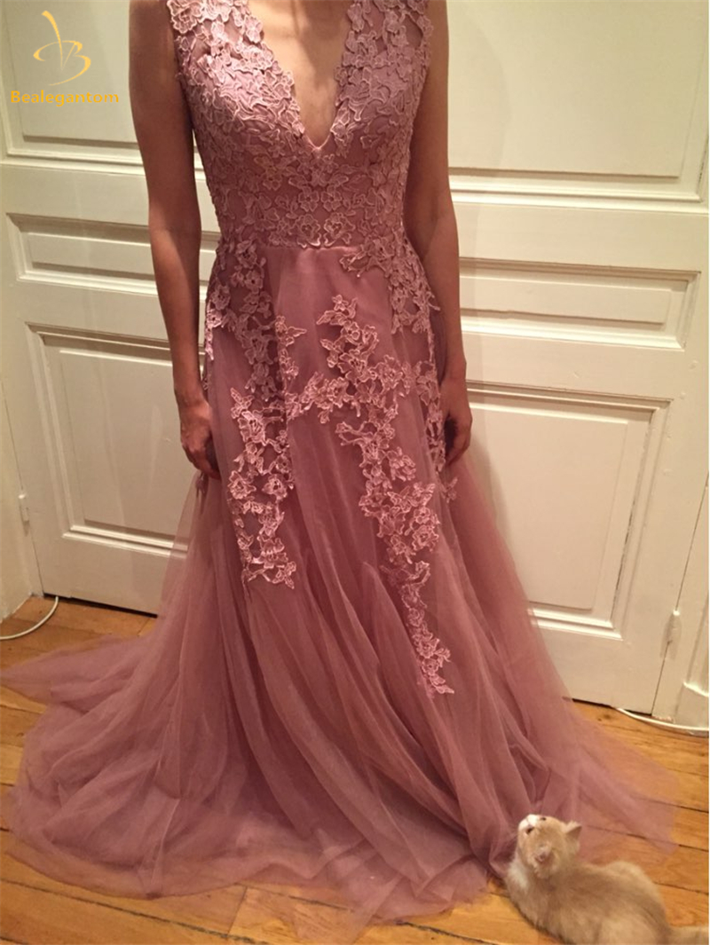 Bealegantom Real Photo Sexy A-line Deep V-Neck Wedding Dresses 2017 Tulle  Appliques Zip ...