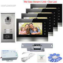 Access Control Home Video font b Door b font Phone 7 inches Monitors CCD 700TVL Rfid