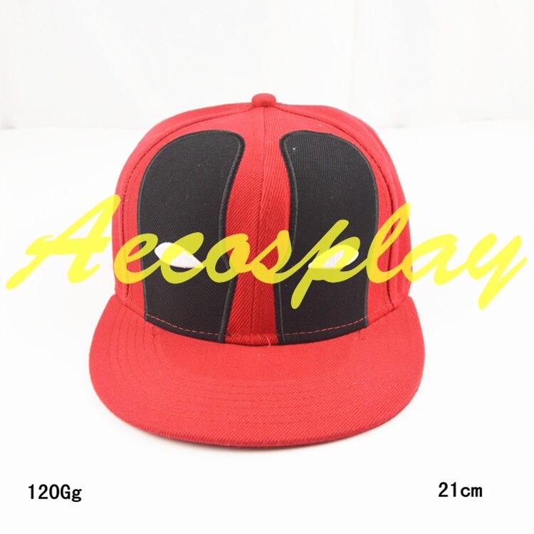 Envío libre Deadpool Sombrero Casquillos Del Snapback Planas Hip Hop gorra de Béisbol de Algodón Para Hombres Mujeres Deportes Cap botín Hueso