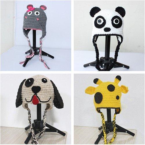 Baby Mousedeer Dogpanda Hat Beanie Crochet Handmade Cap Free