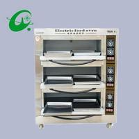 3layers 6 trays Commercial Electric bread toaster food baking oven pizza baker Electric Pizza Oven with timer