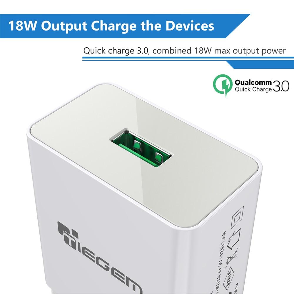 TIEGEM 18W Fast Quick Charge 3.0 Universal USB Wall Charger Adapter - Ανταλλακτικά και αξεσουάρ κινητών τηλεφώνων - Φωτογραφία 2