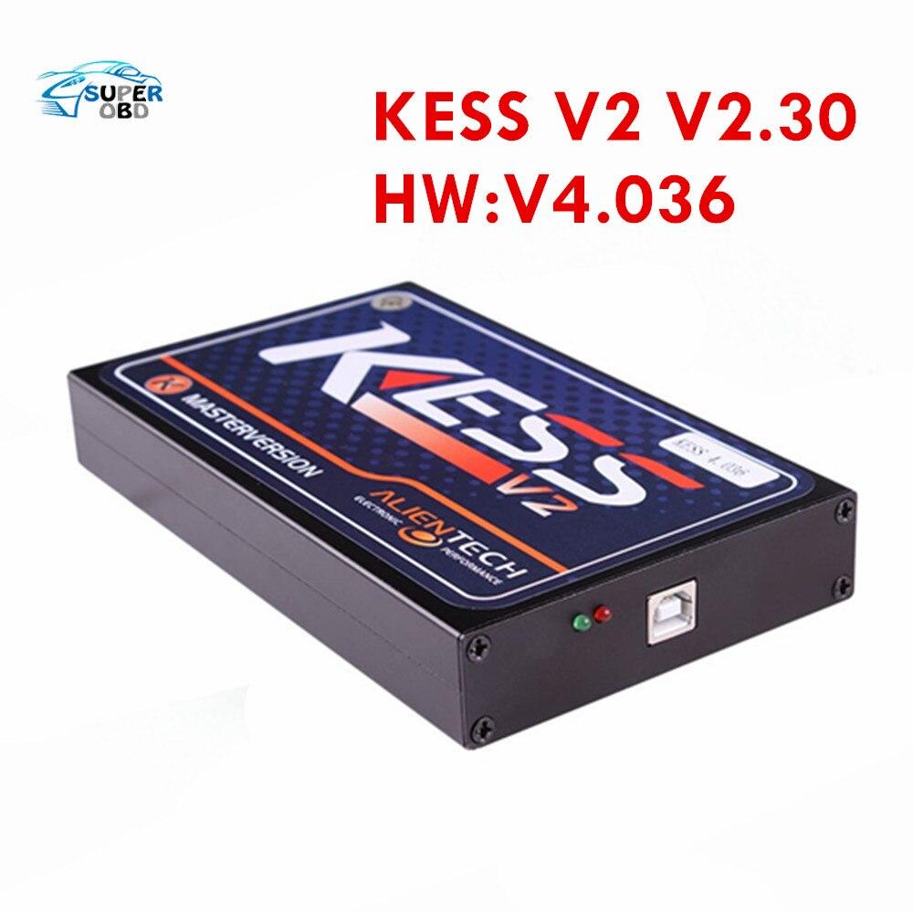 DHL Free KESS V2 V2.3 HW V4.036 Tuning Kit without Token Limited ECU chip tuning KESS V2.3 Kess Tuning Kit KESS V2 Master