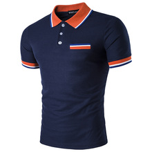 High quality brand men polo shirt new summer casual striped cotton mens solid ralp camisa XXL