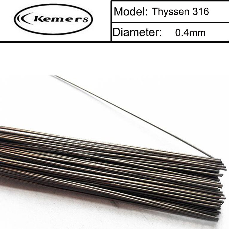 Kemers Thyssen 316 of 0.4mm Stainless Steel  Laser Welding Wires for Solder Welders 200pcs in 1 Tube Made in Germany F060  цены
