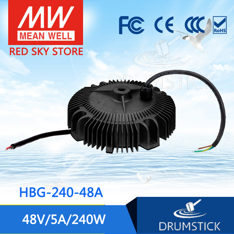 Hot! MEAN WELL HBG-240-48A 48V 5A meanwell HBG-240 48V 240W Single Output LED Driver Power Supply mean well hbg 160 24a 24v 6 5a meanwell hbg 160 24v 156w single output led driver power supply