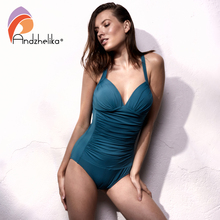 One Piece Swimsuit 2018 Women Swimwear Solid Beach Plus Size Bodysuits Vintage Retro Fold Bathing Suits Monokini
