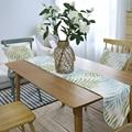 Moderne Tisch Runner Polyester Blau Grüne Blätter Tropische Pflanze Drucken Tisch Läufer Kaffee Tisch Restaurant Home Dekoration Flagge|Tischläufer|Heim und Garten -