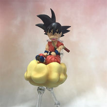 Anime Dragon Ball Z Goku Crianças Montado Versão PVC Action Figure Collectible Toy Modelo DBZ Movable 15 centímetros(China)