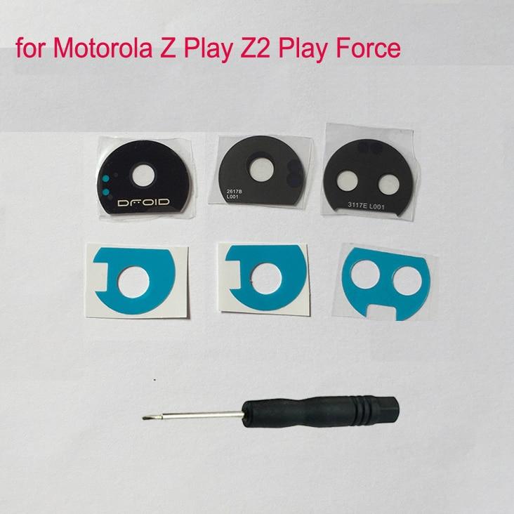 Original For Motorola Moto Z Play Z2 Play Z2 Force E4 Plus Mobile Phone Housing Back Camera Glass Lens Protector Cover + Tools