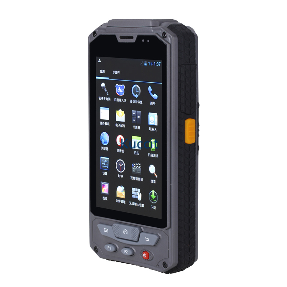 Android Wireless Handheld Terminal Fingerprint 1D 2D Laser Barcode Scanner 4.3 PDA RFID NFC 3G Data Collector Rugged Cell phone image