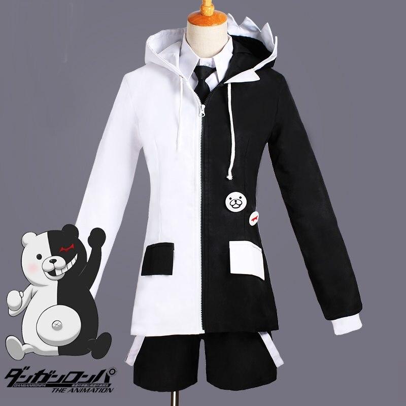 Anime Dangan Ronpa 2 Monokuma Uniform Cosplay Costume Full Set Unisex