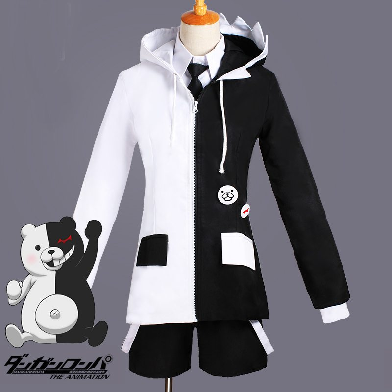 Anime Super Danganronpa 2 Dangan Ronpa School Uniform Women Men Monokuma Cosplay Costumes Full Set for Halloween Party
