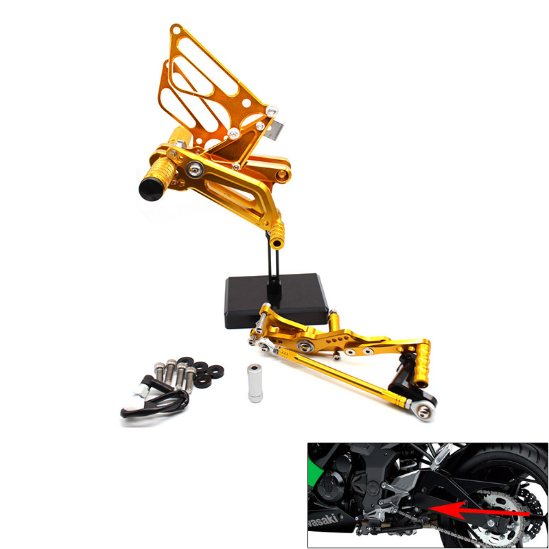 CNC Piede Del Motociclo Pioli Resto Pedali Pedane Posteriore для TRIUMPH DAYTONA 675R 2006 2016 DAYTONA 675 2011 2013