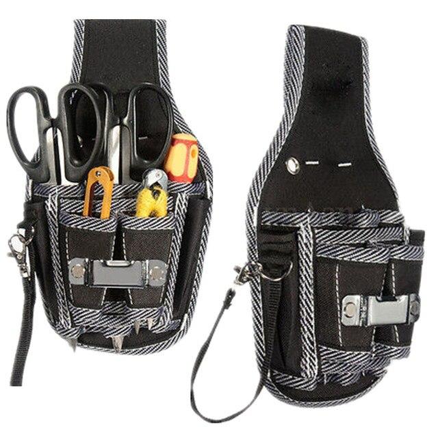 277adbfbdf34 US $7.35 |1PCS Fashion Electrician Waist Pocket Belt Tool Pouch Screwdriver  Utility Kit Holder Storage Bags Tool Cabinet Work Box Tool Kit-in Storage  ...