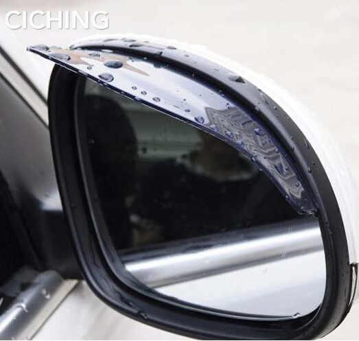 2 uds espejo retrovisor para coche lluvia ceja pegatinas accesorios para mercedes bmw e46 fiat panda bmw e90 audi a4 b8 fiat