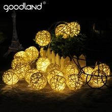 Goodland 2M 20 LEDs Warm White LED String Light Single White/Colorful Battan Ball Christmas Wedding Party Holiday Decoration
