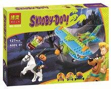 Hottest Scooby Doo Momia Museo Misterio Mini Plane Kits Building Block Bebe Ninos Juguetes Bela 10429