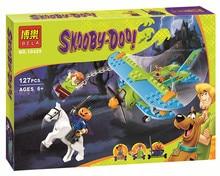 Hottest Scooby Doo Momia Museo Misterio Mini Plane Kits Mini figura  Building Block Bebe Ninos Juguetes Bela 10429