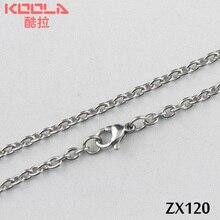 """OFF 20% 1""""-38"""" длина 3 мм Открытые Кольца, Овальный цепь из нержавеющей стали ожерелье Мужская мода ювелирные изделия цепи 20 штук ZX120"""