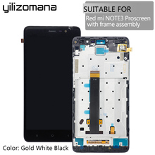 YILIZOMANA Original Replacement LCD Display+Digitizer Touch Screen with Frame For Xiaomi Redmi Hongmi Note 3 Pro+Tools 100% new for xiaomi redmi 2 lcd display digitizer touch screen replacement hongmi 2 redmi 2 pro prime 2a parts with free tools