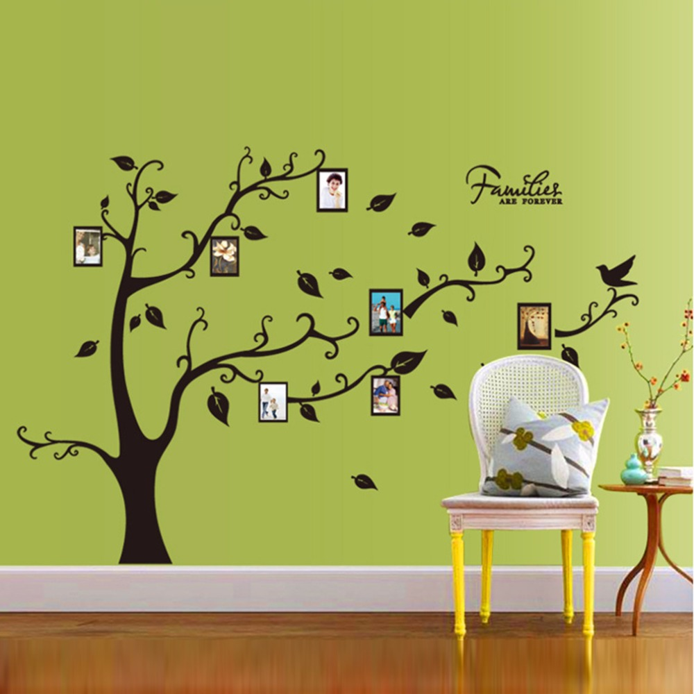 2017 Wall Stickers Home Decor Family Picture Photo Frame Tree Wall ...