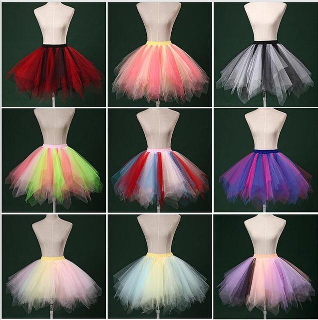 Divide Colorido Ballet Tutu Falda Enagua Falda Que Llevaba Una Etapa Corta Enagua Hinchada Para Las Mujeres 40-45 cm Elástico