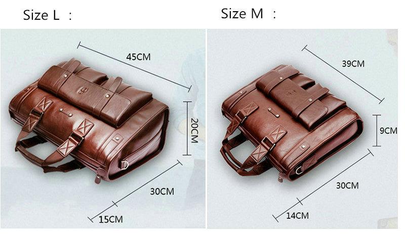 HTB19MlrSwHqK1RjSZFgq6y7JXXaR 2019 Men Leather Black Briefcase Business Handbag Messenger Bags Male Vintage Shoulder Bag Men's Large Laptop Travel Bags Hot