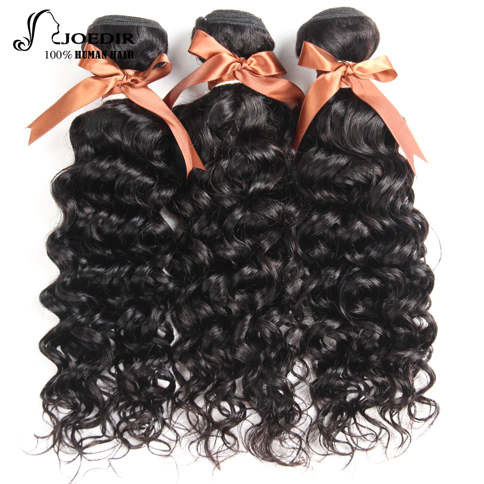 Joedir Human Hair Indian Water Wave 3 Bundles 100% Human Hair Weave Bundles Non Remy Hair Extensions Free Shipping