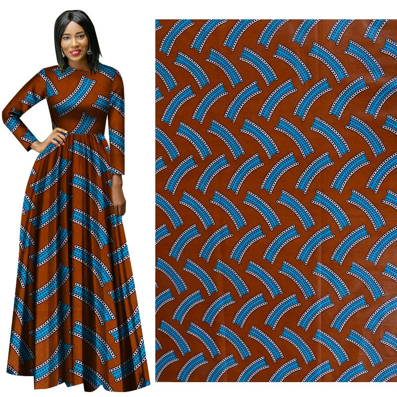 Dress Wax-Fabric Hollandais Wax African Print Cloth Suit DIY Me-Dusa High-Quility 6yards/Pcs