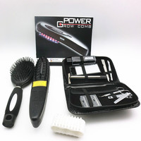 Laser Hair Grow Comb Brush Kit Regrow Growth Prevent Hair Loss Head Pain Relief Therapy Massager Brushes Scalp + Manicure Set