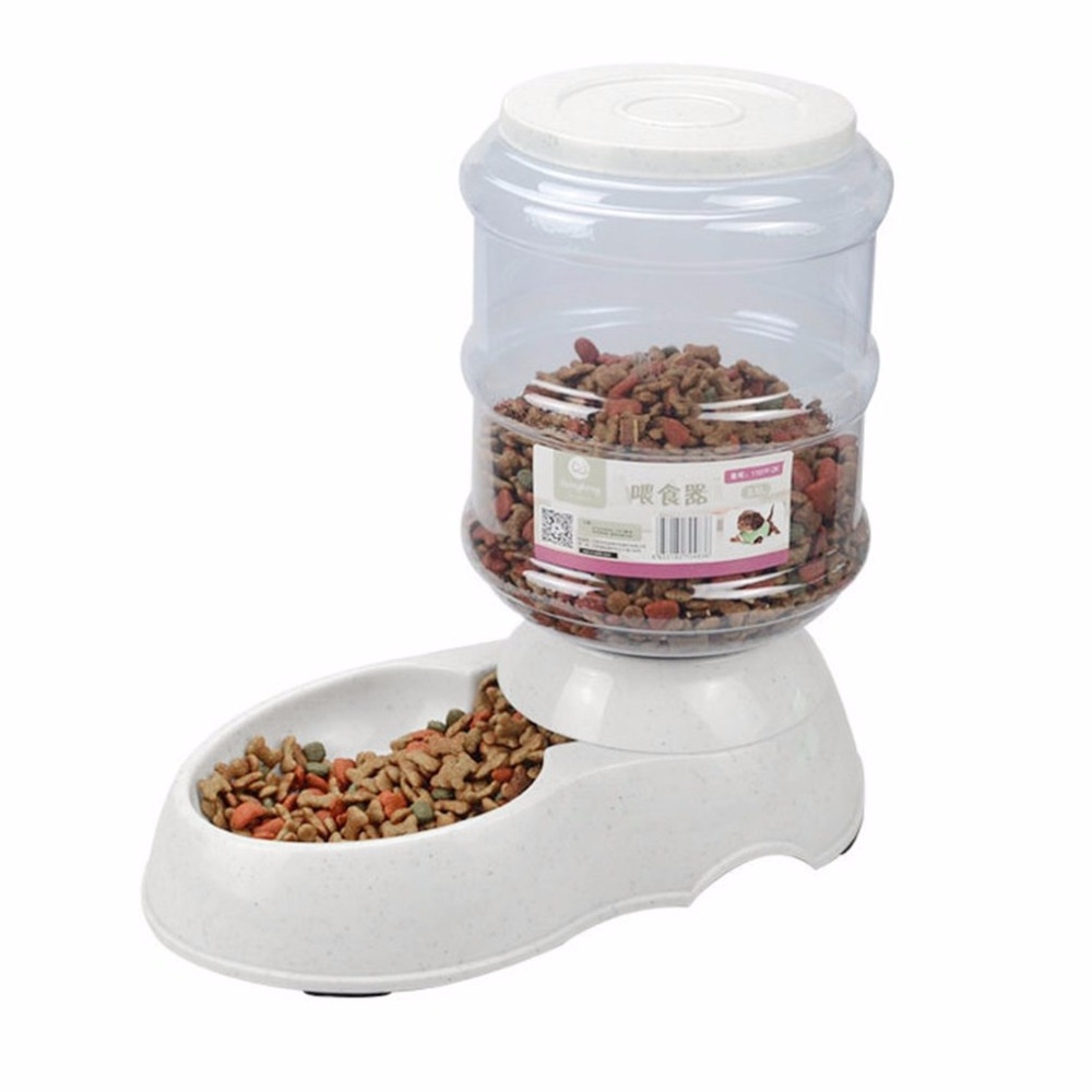 NEW Pet Supplies Dogs Automatic Dispenser <font><b>Water</b></font> Feeder <font><b>Food</b></font> Feeder Feeding Bowls For Dogs <font><b>And</b></font> Cats 3.5L Large Capacity Supplies