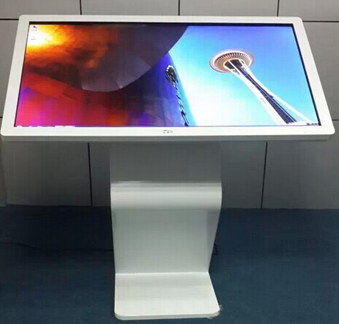 46 Inch SAMSUNG Floor Stand Horizontal Touch Screen Mall Advertising Lcd Kiosk