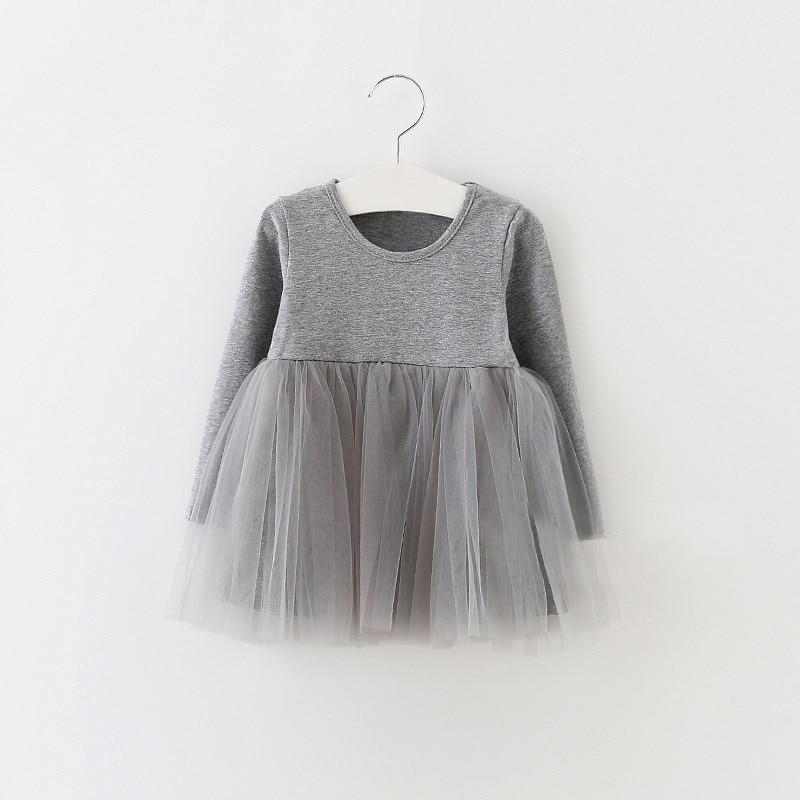Kids Girls Princess Dresses Infant Dress Newborn Girls Clothes Baby Cotton Long Sleeve Clothing 0-4 Years