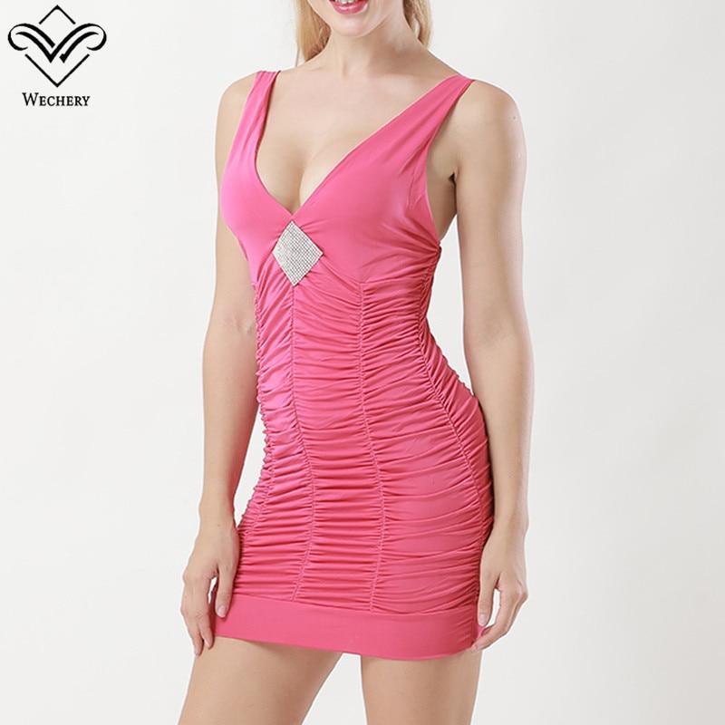 Deep V Neck Sexy Shaper Evening Party Dress