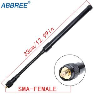 Image 3 - Antena tática dobrável abbree AR 148, tipo pescoço de cisne, sma, feminina, UV 5R, UV 82 e UV 9R plus